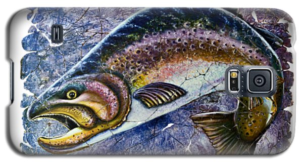 Vintage Blue Trout Fresco  Galaxy S5 Case