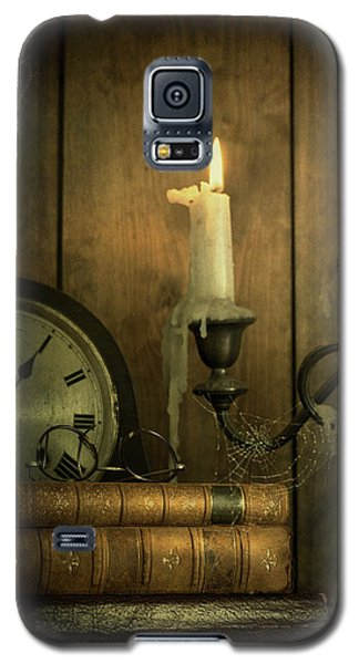 Vintage Books With Candles And An Old Clock Galaxy S5 Case