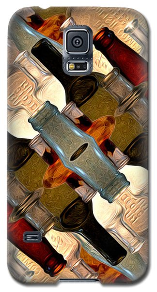 Vintage Bottles Abstract Galaxy S5 Case by Phil Perkins