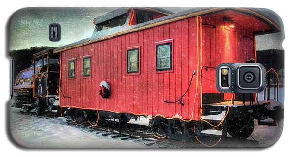 Galaxy S5 Case featuring the photograph Vintage Caboose - Winter Train by Joann Vitali