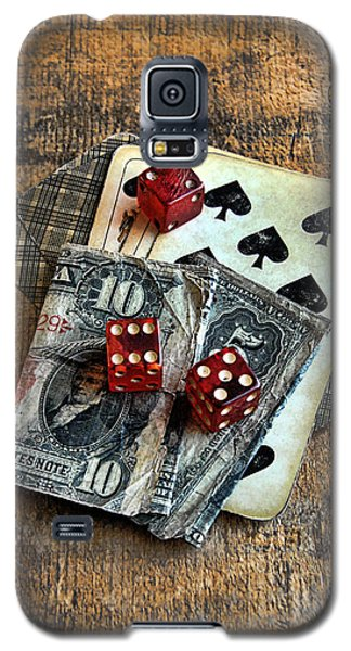 Vintage Cards Dice And Cash Galaxy S5 Case