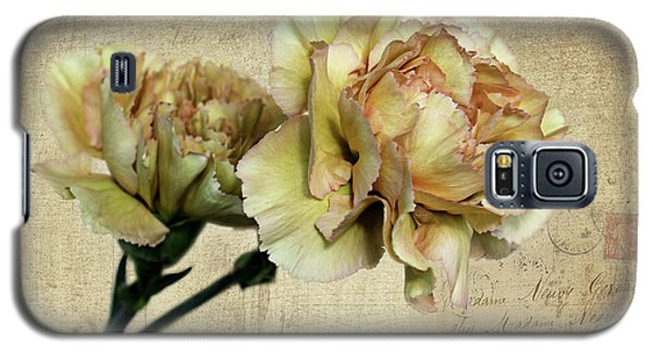 Vintage Carnations Galaxy S5 Case by Judy Vincent