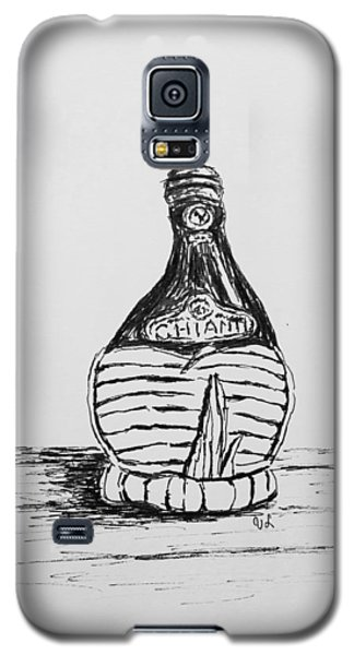 Galaxy S5 Case featuring the drawing Vintage Chianti by Victoria Lakes