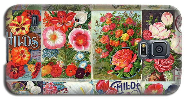 Vintage Childs Nursery Flower Seed Packets Mosaic  Galaxy S5 Case