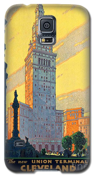 Vintage Cleveland Travel Poster Galaxy S5 Case by George Pedro