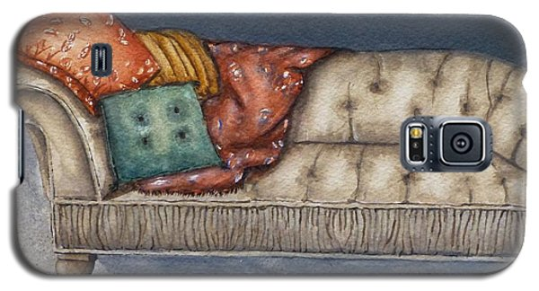 Galaxy S5 Case featuring the painting Vintage Comfy Couch by Kelly Mills