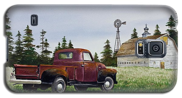 Galaxy S5 Case featuring the painting Vintage Country Pickup by James Williamson