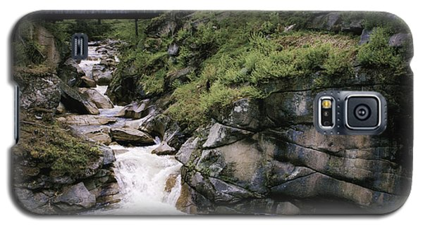 Galaxy S5 Case featuring the photograph Vintage Covered Bridge And Waterfall by Jason Moynihan