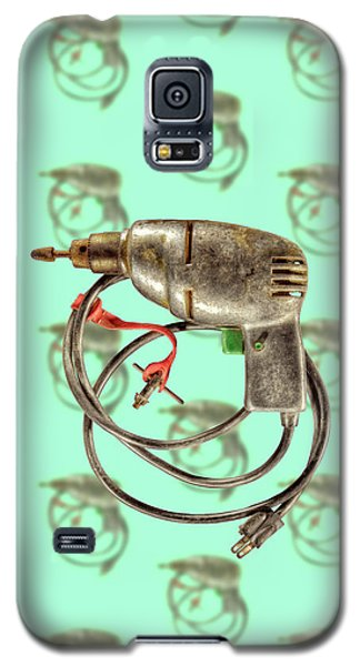 Galaxy S5 Case featuring the photograph Vintage Drill Motor Green Trigger Pattern by YoPedro