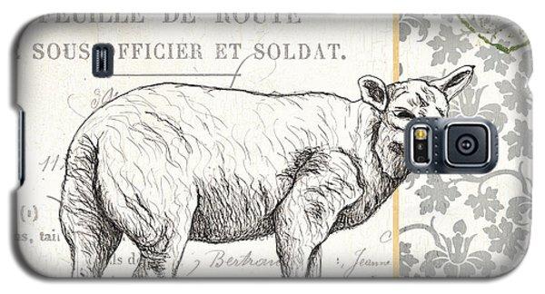 Sheep Galaxy S5 Case - Vintage Farm 3 by Debbie DeWitt