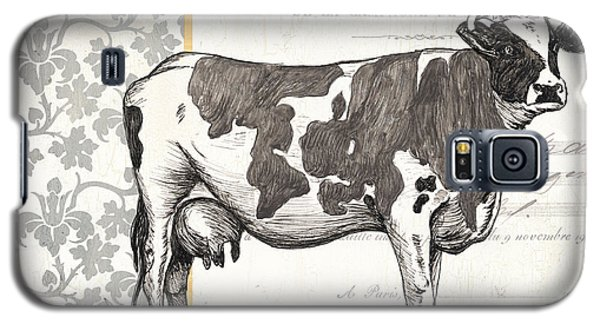 Cow Galaxy S5 Case - Vintage Farm 4 by Debbie DeWitt