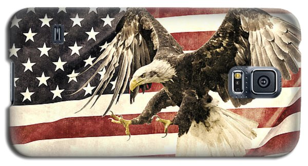 Galaxy S5 Case featuring the photograph Vintage Flag With Eagle by Scott Carruthers