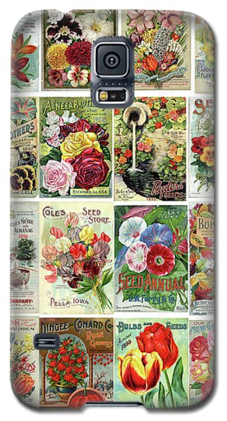 Vintage Flower Seed Packets 1 Galaxy S5 Case
