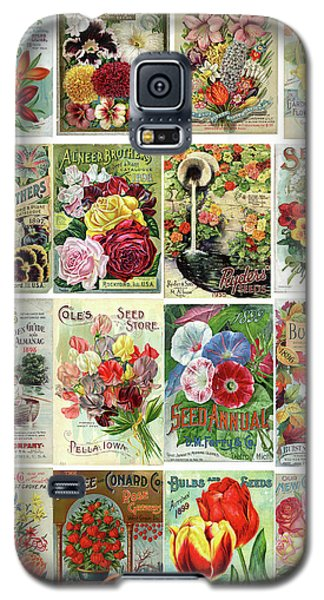 Vintage Flower Seed Packets 1 Galaxy S5 Case by Peggy Collins