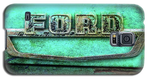 Galaxy S5 Case featuring the photograph Vintage Ford Truck Logo  by Terry DeLuco