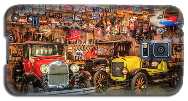 Galaxy S5 Case featuring the photograph Vintage Fords Collectibles by Debra and Dave Vanderlaan