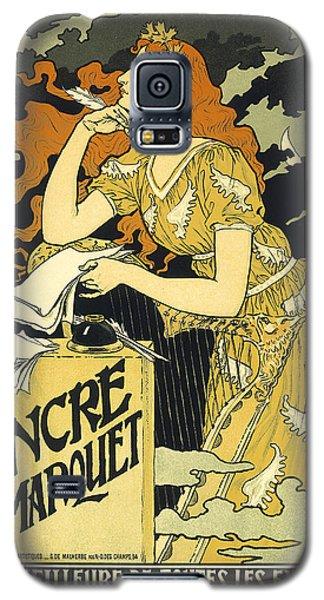 Vintage French Advertising Art Nouveau Encre L'marquet Galaxy S5 Case