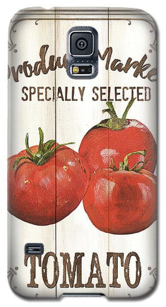 Tomato Galaxy S5 Case - Vintage Fresh Vegetables 4 by Debbie DeWitt