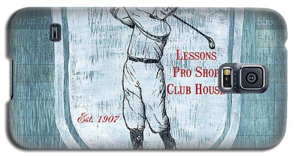 Vintage Golf Blue 1 Galaxy S5 Case by Debbie DeWitt