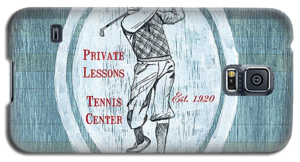 Vintage Golf Blue 2 Galaxy S5 Case