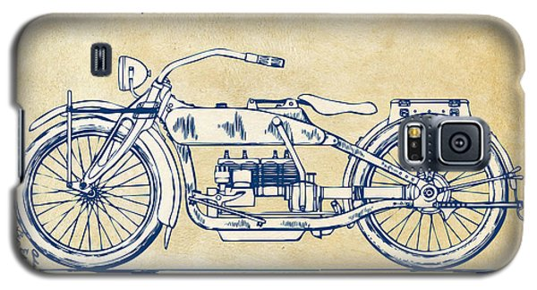 Vintage Harley-davidson Motorcycle 1919 Patent Artwork Galaxy S5 Case by Nikki Smith