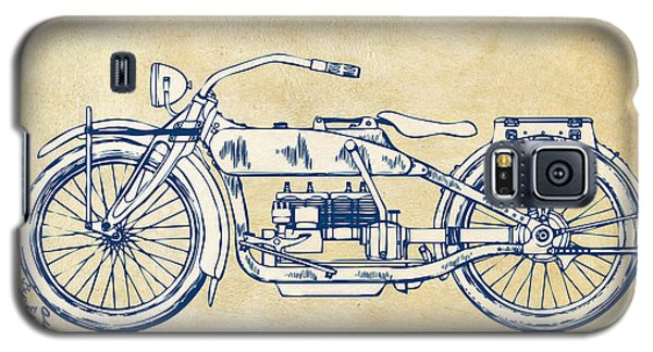 Vintage Harley-davidson Motorcycle 1919 Patent Artwork Galaxy S5 Case