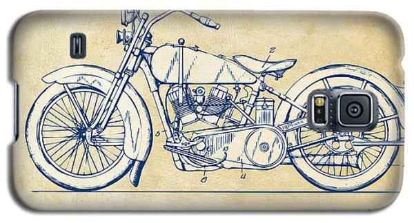 Vintage Harley-davidson Motorcycle 1928 Patent Artwork Galaxy S5 Case