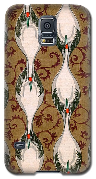 Vintage Japanese Illustration Of Cranes Flying Galaxy S5 Case by Japanese School