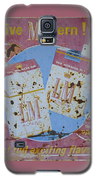 Galaxy S5 Case featuring the photograph Vintage L And M Cigarette Sign by Christina Lihani