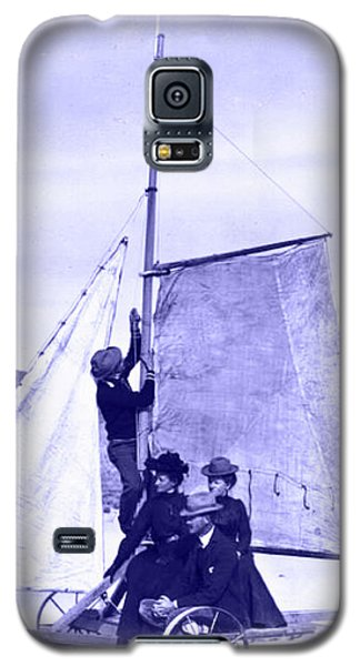 Vintage Ladies And Gentlemen Sail On The Desert Queen Galaxy S5 Case