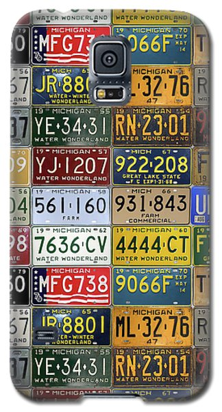 Vintage License Plates From Michigan's Rich Automotive Past Galaxy S5 Case by Design Turnpike