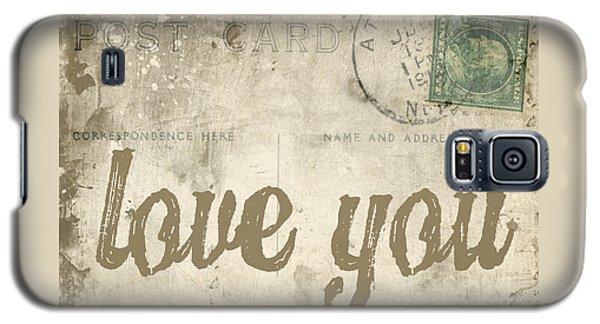 Vintage Love Letters Galaxy S5 Case by Edward Fielding