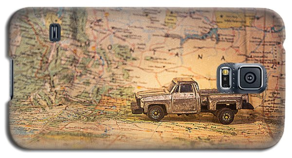 Galaxy S5 Case featuring the photograph Vintage Map And Truck by Mary Hone