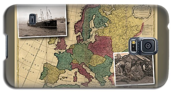 Vintage Map Europe Immigrants Galaxy S5 Case