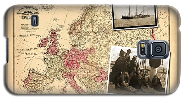 Vintage Map Europe To New York Galaxy S5 Case