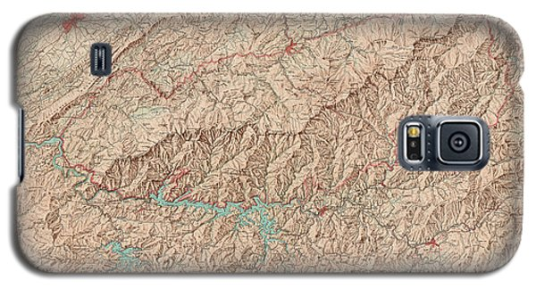Galaxy S5 Case featuring the drawing Vintage Map Of Great Smoky Mountains National Park - Usgs Topographic Map - 1949 by Blue Monocle