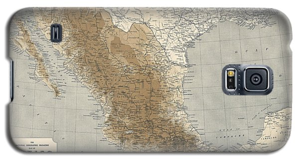 Galaxy S5 Case featuring the drawing Vintage Map Of Mexico - 1911 - National Geographic by Blue Monocle