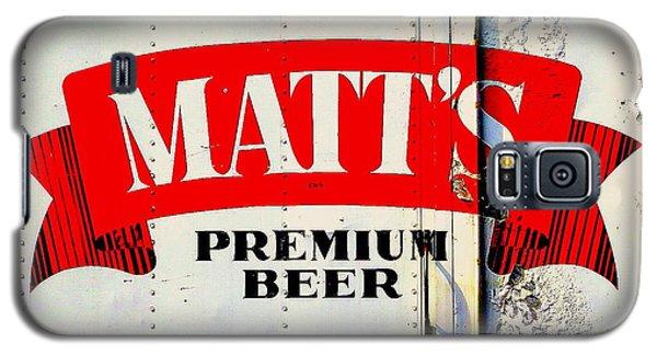 Vintage Matt's Premium Beer Sign Galaxy S5 Case