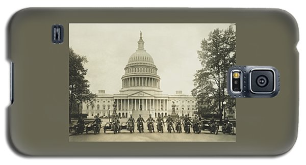 Vintage Motorcycle Police - Washington Dc  Galaxy S5 Case by War Is Hell Store