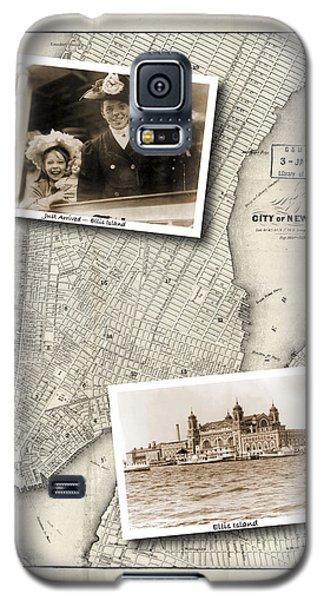 Vintage New York Map With Ellis Island Galaxy S5 Case