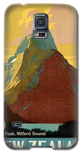 Vintage New Zealand Travel Poster Galaxy S5 Case by George Pedro