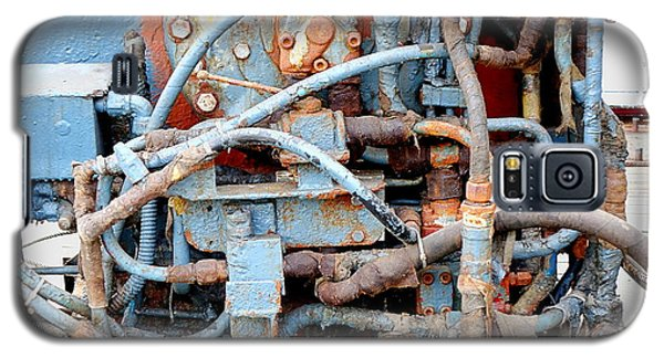 Galaxy S5 Case featuring the photograph Vintage Old Diesel Engine On A Ship by Yali Shi