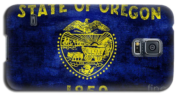 Vintage Oregon Flag Galaxy S5 Case by Jon Neidert
