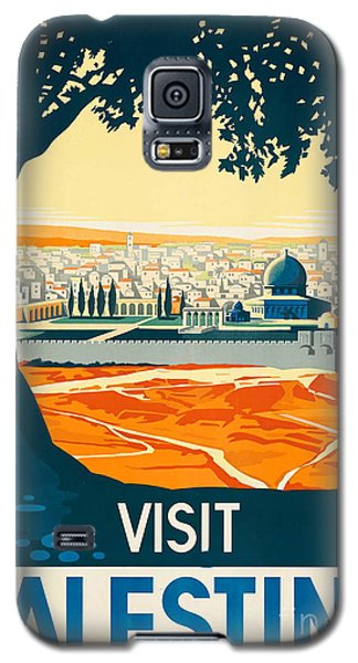 Vintage Palestine Travel Poster Galaxy S5 Case by George Pedro