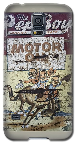 Galaxy S5 Case featuring the photograph Vintage Pep Boys Sign by Christina Lihani