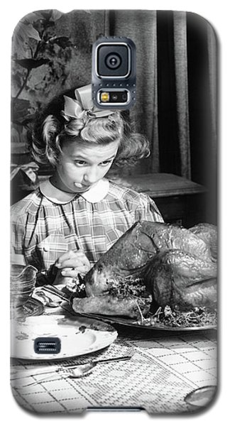 Vintage Photo Depicting Thanksgiving Dinner Galaxy S5 Case by American School