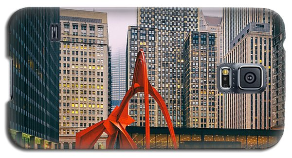 Vintage Photo Of Alexander Calder Flamingo Sculpture Federal Plaza Building - Chicago Illinois  Galaxy S5 Case