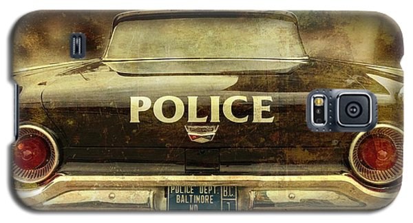 Galaxy S5 Case featuring the photograph Vintage Police Car - Baltimore, Maryland by Marianna Mills