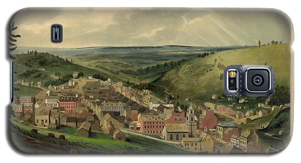 Galaxy S5 Case featuring the photograph Vintage Pottsville Pennsylvania Etching With Remarque by John Stephens