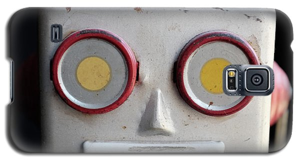 Galaxy S5 Case - Vintage Robot Square by Edward Fielding